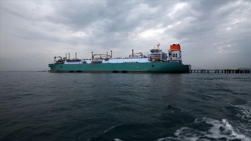 Americké plavidlo LNG přijíždí do Turecka 27. ledna