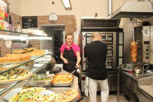 Bistro s arabským jídlem v Korunní ulici v Praze na Vinohradech